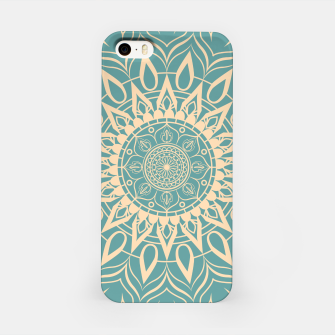 Thumbnail image of Turquoise and Yellow Mandala III iPhone Case, Live Heroes