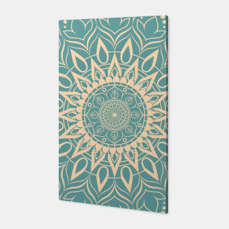 Thumbnail image of Turquoise and Yellow Mandala III Canvas, Live Heroes