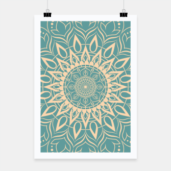 Thumbnail image of Turquoise and Yellow Mandala III Poster, Live Heroes