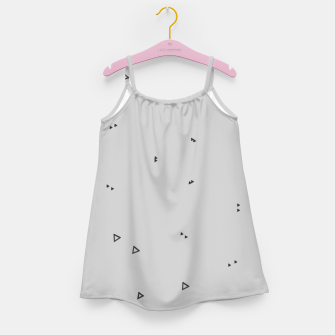 Thumbnail image of Pattern Abstrait Triangles gris Robe de fille, Live Heroes