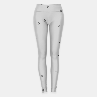 Thumbnail image of Pattern Abstrait Triangles gris Leggings, Live Heroes