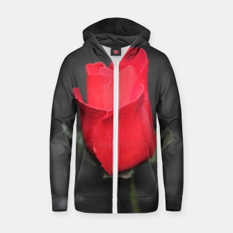 Photo Roses Rouge Sweat capuche zippé  thumbnail image