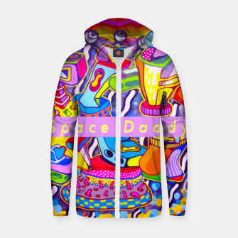 Thumbnail image of U trippin daddy? Zip up hoodie, Live Heroes