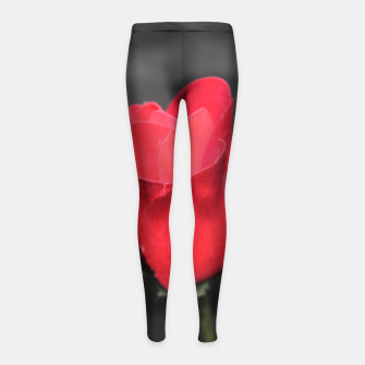 Photo Roses Rouge Leggings de fille thumbnail image
