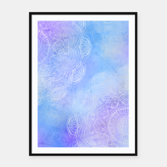 Thumbnail image of Purple-blue mystic mandala Framed poster, Live Heroes