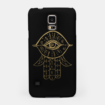 Miniatur Hamsa Hand Gold on Black #1 #drawing #decor #art  Handyhülle für Samsung, Live Heroes