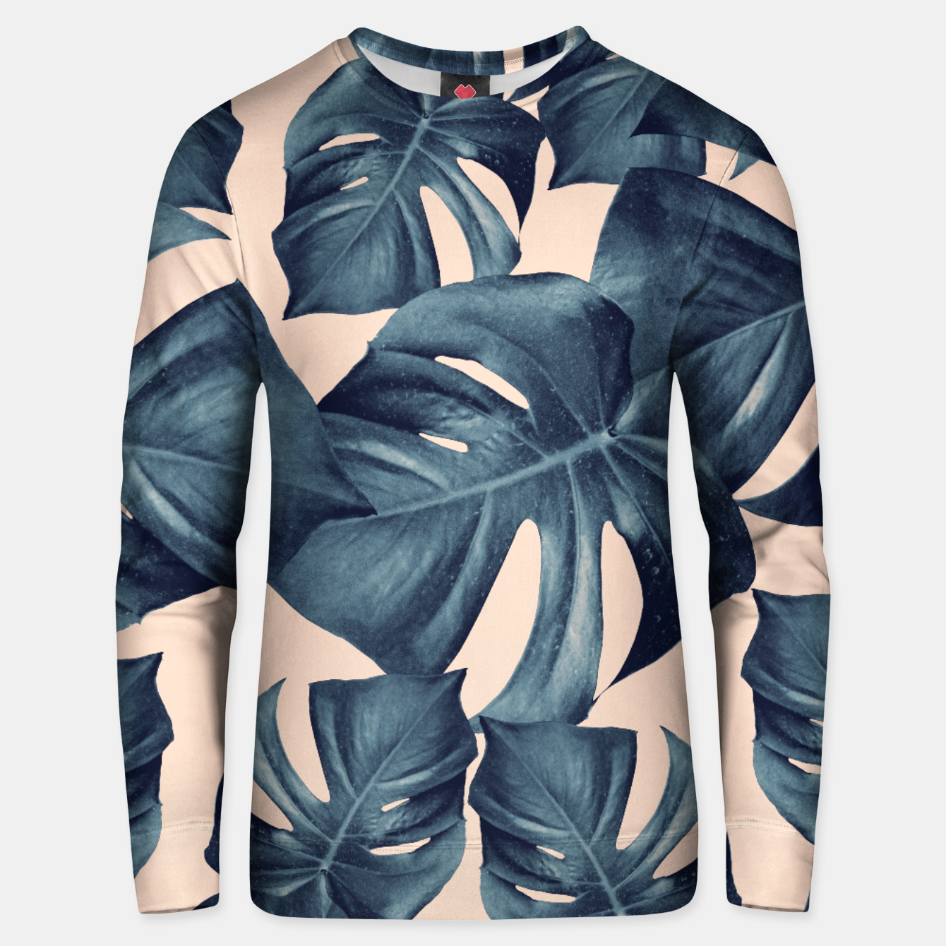 Image of Monstera Leaves Pattern #6 #tropical #decor Unisex sweatshirt - Live Heroes