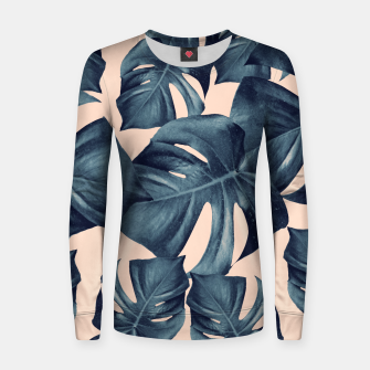 Monstera Leaves Pattern #6 #tropical #decor Frauen sweatshirt thumbnail image