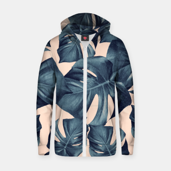 Monstera Leaves Pattern #6 #tropical #decor Reißverschluss kapuzenpullover thumbnail image