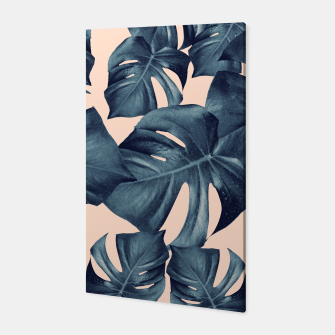 Monstera Leaves Pattern #6 #tropical #decor Canvas thumbnail image