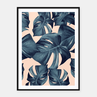 Monstera Leaves Pattern #6 #tropical #decor Plakat mit rahmen thumbnail image