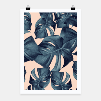 Monstera Leaves Pattern #6 #tropical #decor Plakat thumbnail image