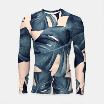 Monstera Leaves Pattern #6 #tropical #decor Longsleeve rashguard thumbnail image