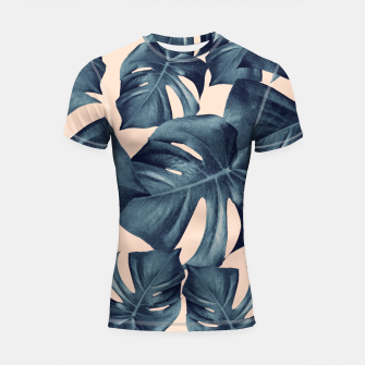 Miniaturka Monstera Leaves Pattern #6 #tropical #decor Shortsleeve rashguard, Live Heroes