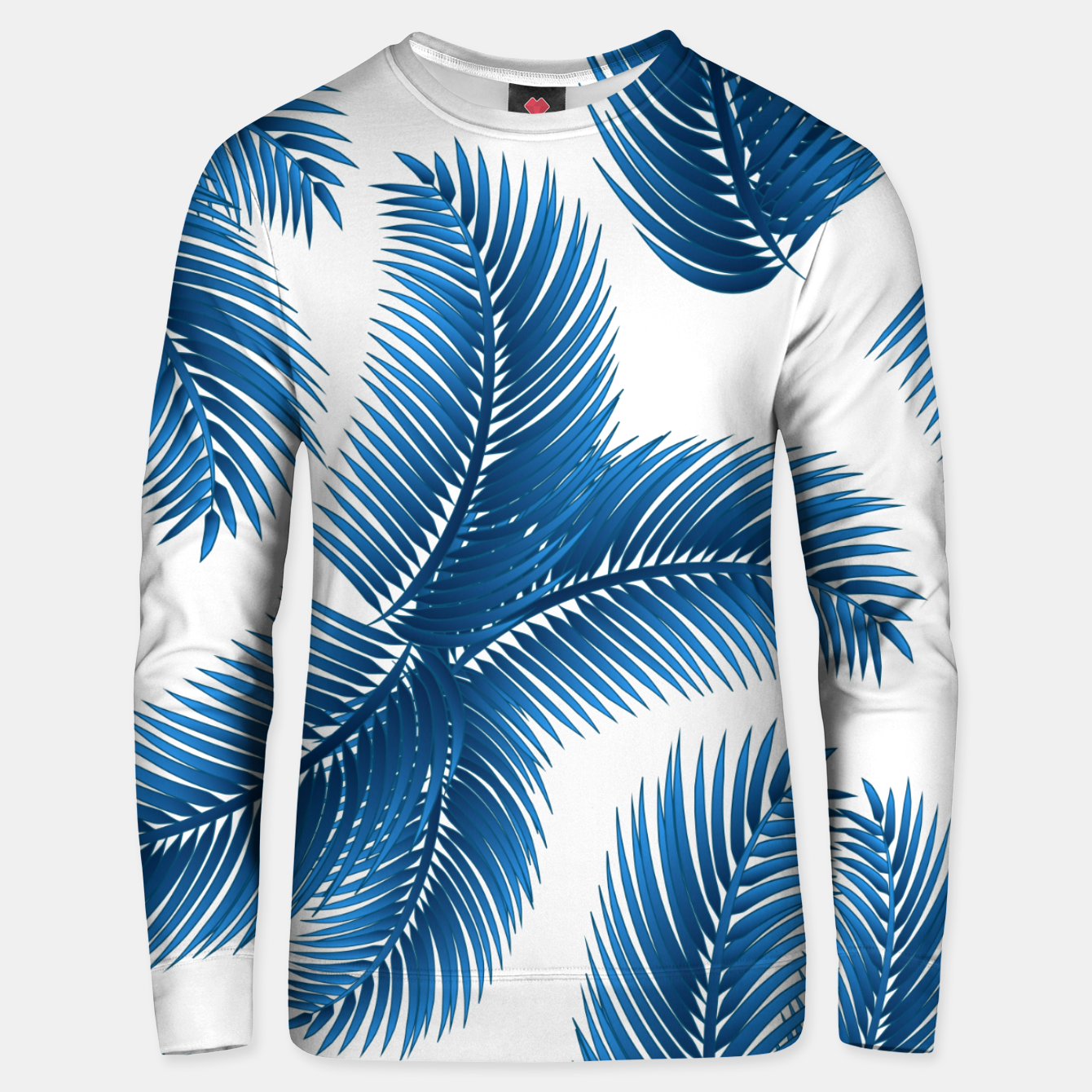 Image of Blue palm Unisex sweater - Live Heroes