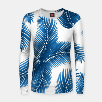 Blue palm Women sweater thumbnail image