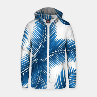 Blue palm Zip up hoodie thumbnail image