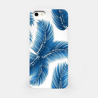 Blue palm iPhone Case thumbnail image