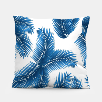 Blue palm Pillow thumbnail image