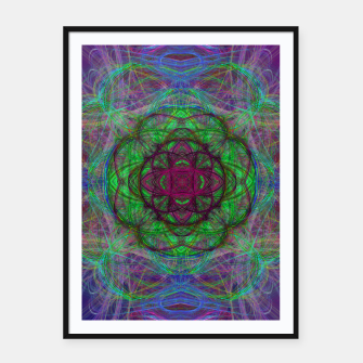 Thumbnail image of Mandala Psychedelic Framed poster, Live Heroes