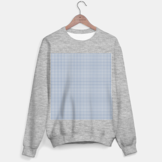 Thumbnail image of Blue grid pattern on ice grey Sweater regular, Live Heroes