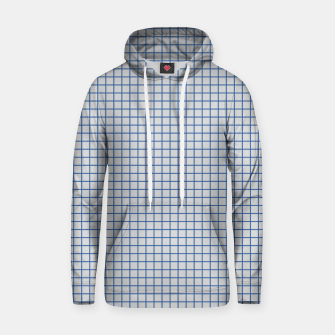 Thumbnail image of Blue grid pattern on ice grey Hoodie, Live Heroes