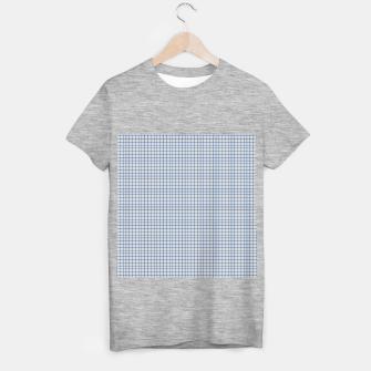 Thumbnail image of Blue grid pattern on ice grey T-shirt regular, Live Heroes