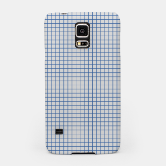 Thumbnail image of Blue grid pattern on ice grey Samsung Case, Live Heroes