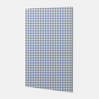 Thumbnail image of Blue grid pattern on ice grey Canvas, Live Heroes