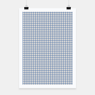Thumbnail image of Blue grid pattern on ice grey Poster, Live Heroes