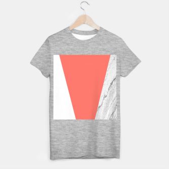 Thumbnail image of Marble Coral living Geometry T-shirt regular, Live Heroes