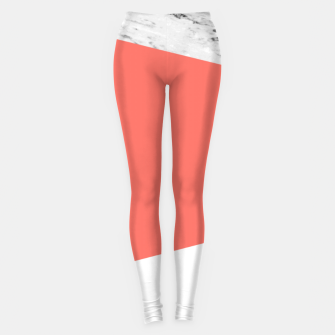 Thumbnail image of Marble Coral living Geometry Leggings, Live Heroes