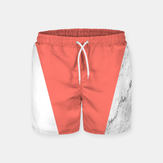 Thumbnail image of Marble Coral living Geometry Swim Shorts, Live Heroes