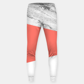 Thumbnail image of Marble Coral living Geometry Sweatpants, Live Heroes