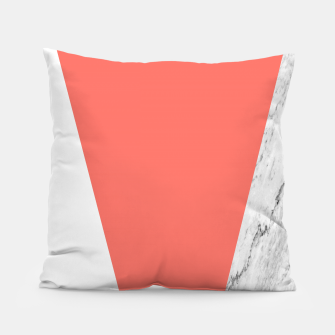 Marble Coral living Geometry Pillow thumbnail image