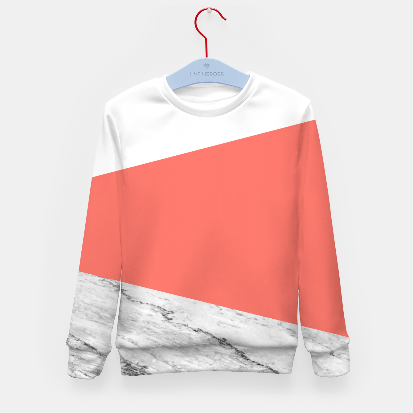 Image of Marble Coral living Geometry Kid's sweater - Live Heroes