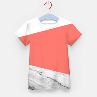 Marble Coral living Geometry Kid's t-shirt thumbnail image