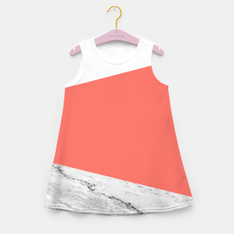 Marble Coral living Geometry Girl's summer dress thumbnail image
