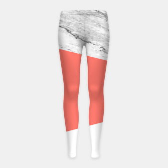 Marble Coral living Geometry Girl's leggings thumbnail image