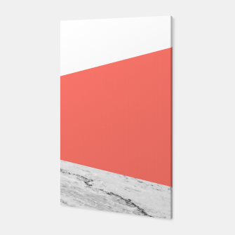 Marble Coral living Geometry Canvas thumbnail image