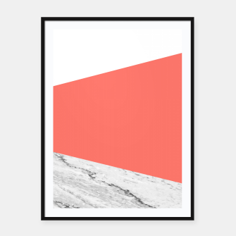 Marble Coral living Geometry Framed poster thumbnail image