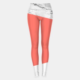 Marble Coral living Geometry Leggings thumbnail image