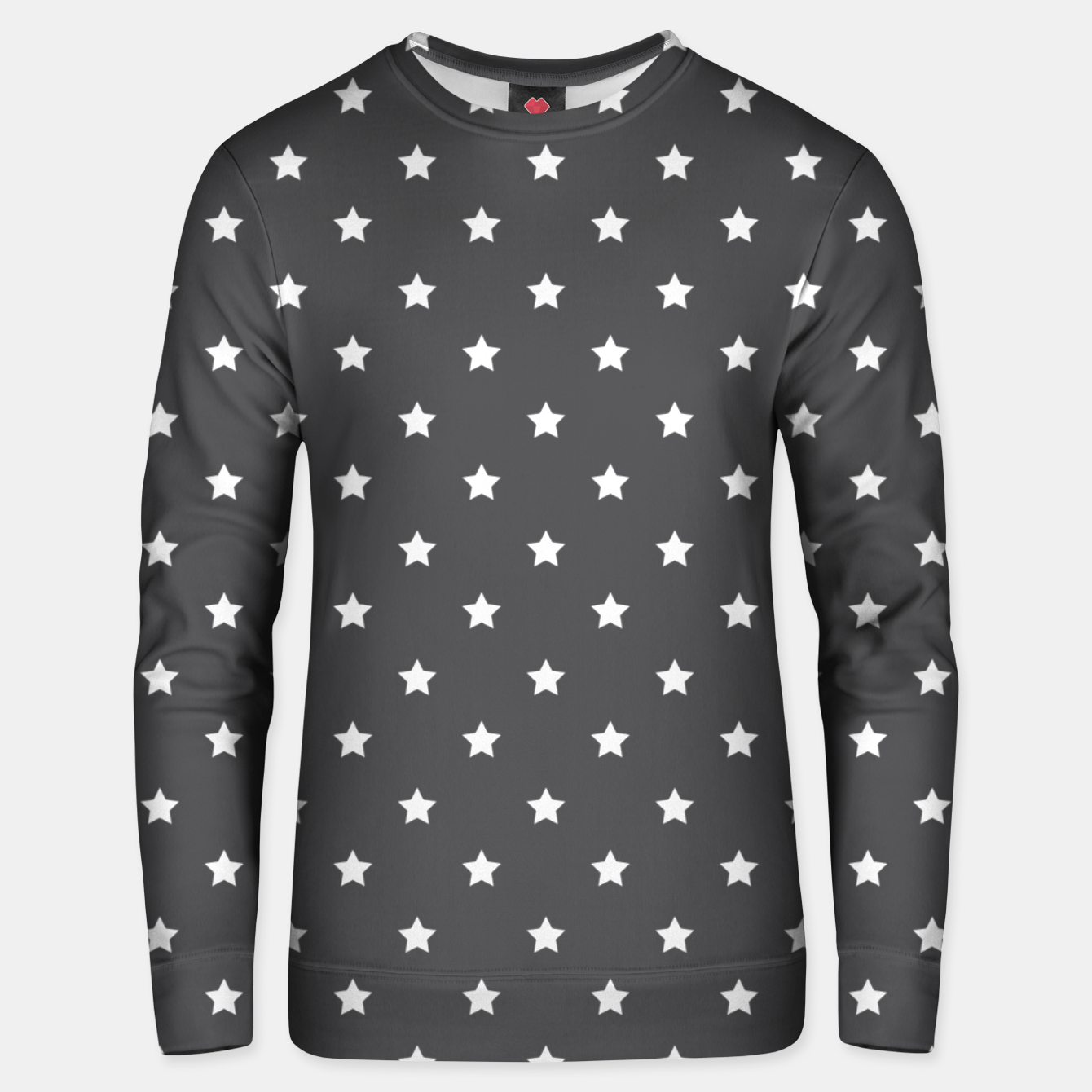 Image of Pattern Etoiles Blanc/Gris Unisex pull - Live Heroes