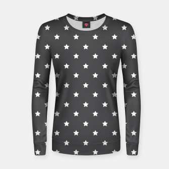 Thumbnail image of Pattern Etoiles Blanc/Gris Pull femme , Live Heroes