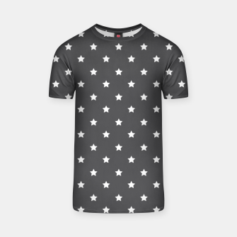 Thumbnail image of Pattern Etoiles Blanc/Gris T-shirt, Live Heroes