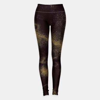 Abstrait Doré/Noir Leggings thumbnail image