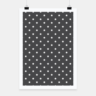 Thumbnail image of Pattern Etoiles Blanc/Gris Affiche, Live Heroes