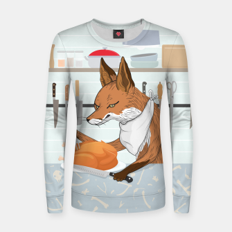 Hearty Dinner Time in Fox's Kitchen Women sweater thumbnail image