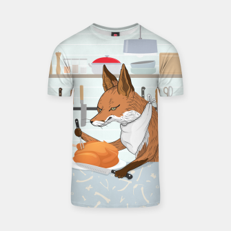 Hearty Dinner Time in Fox's Kitchen T-shirt thumbnail image