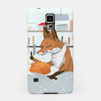 Hearty Dinner Time in Fox's Kitchen Samsung Case thumbnail image